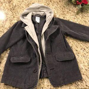 Boys corduroy jacket with hood